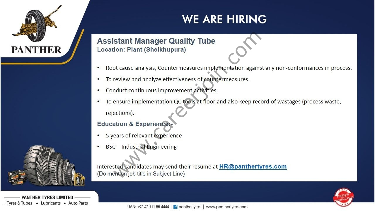 Panther Tyres Limited Jobs SEP 2021