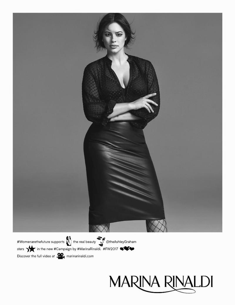 Marina Rinaldi Fall/Winter 2017 Campaign featuring Ashley Graham