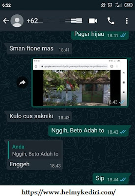 Chat Whatsapp terbaca otomatis