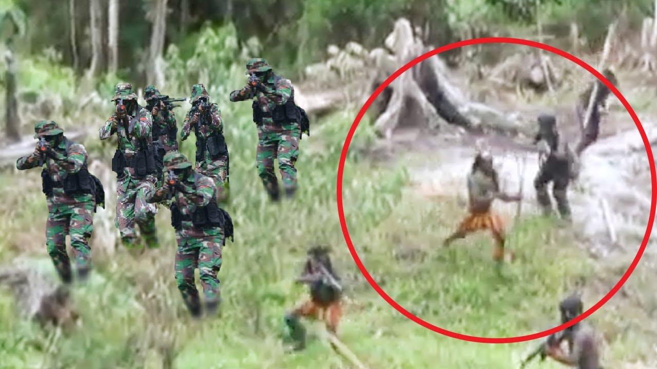 DRAMATIS! Aparat Kepung Markas TPNPB OPM, KKB Papua Kabur Berlumuran Darah Bawa Senjata AK-47
