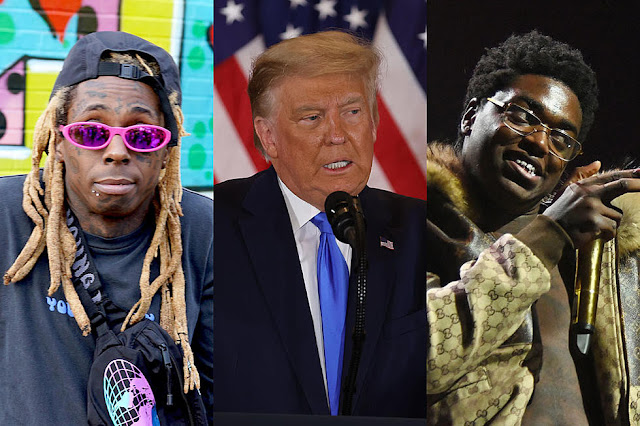 President Donald trump grants clemency to lil Wayne and Kodak black in his final hours in Office