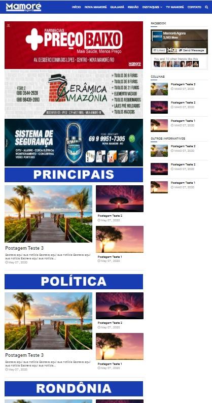 WebSite Notícias #1