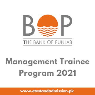 Bank of Punjab Management Trainee Program 2021