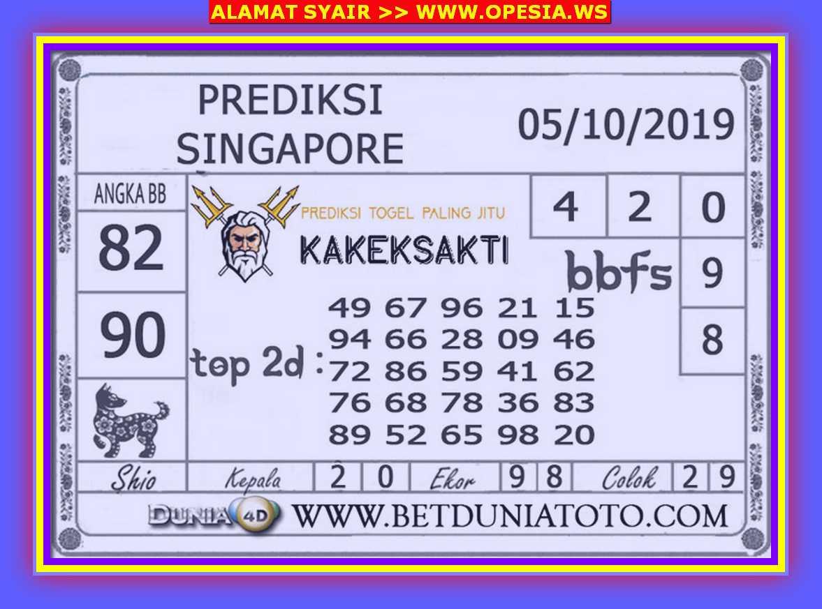 Kode syair Singapore Sabtu 5 Oktober 2019 39