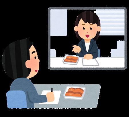 生鮮食品のオンライン商談のイラスト