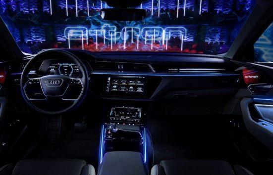 Audi E-Tron 2020 interior Front Cabin View