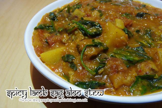 Spicy Lamb Sag Aloo Stew