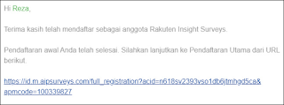 Cara Daftar Rakuten Insight Survey 2