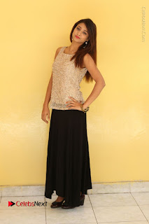 Tollywood Upcoming Actress Arthi Stills in Black Skirt at Plus 1 Movie Trailer Launch  0126.JPG