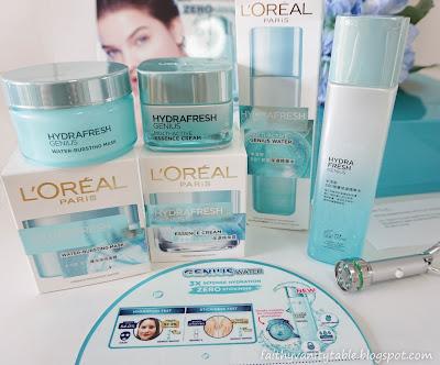 Review of L'Oréal Paris Hydrafresh Genius
