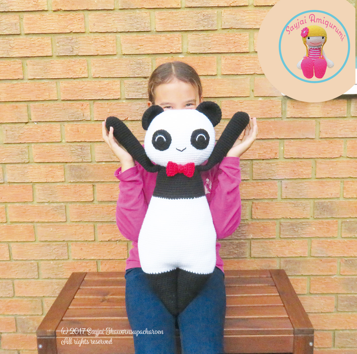 Amigurumi Panda free pattern - A little love everyday! | 1388x1400