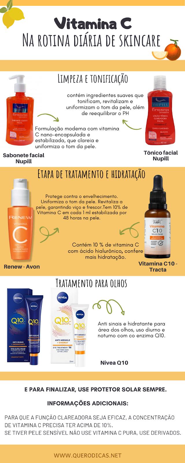 Vitamina c na rotina de skincare