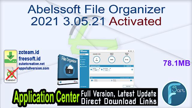 Abelssoft File Organizer 2021.3.05.21 Activated_ ZcTeam.id