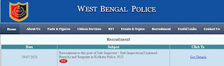 WB Police Recruitment 2021 330 SI Posts