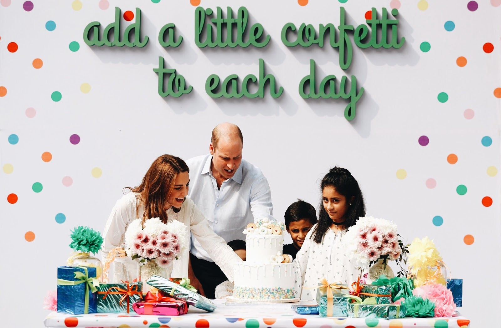 The Duke & Duchess of Cambridge at the SOS Children's Village in Lahore