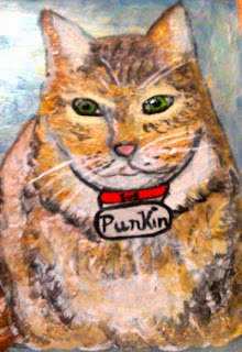 hand painted cat, cat lover gifts