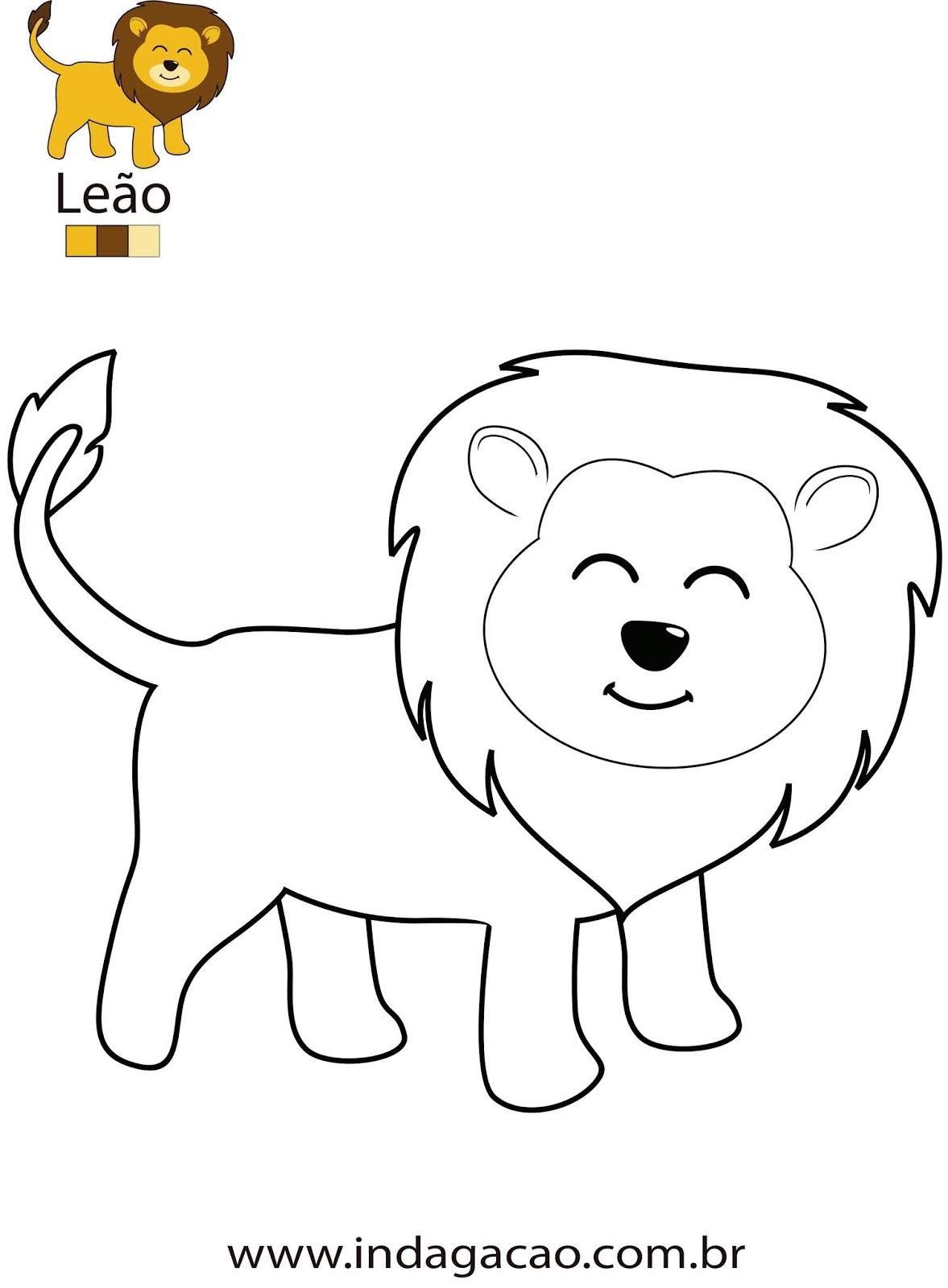 desenho-para-colorir-leão