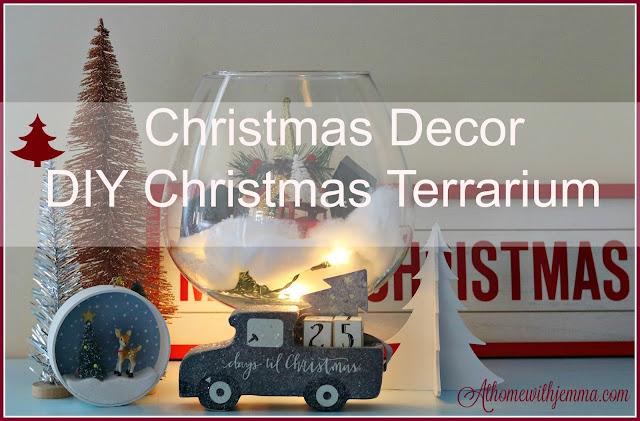 vignette, Christmas, decorating, handmade, crafting, athomewithjemma