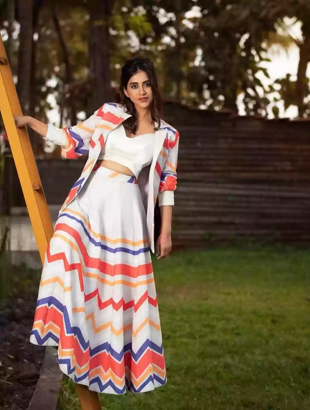 nabha-natesh-in-printed-blazer-and-skirt-set