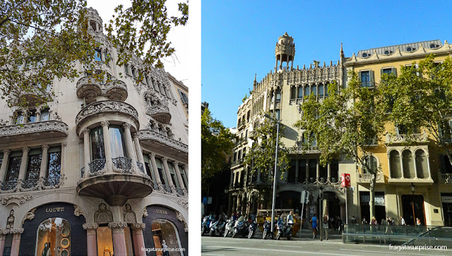 Casa Lleó Morera, no Passeig de Gràcia, Barcelona