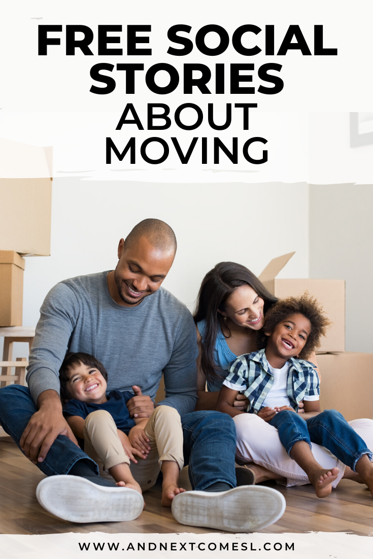 Need a social story about moving to a new house? Then you'll find this collection of moving social stories helpful.