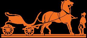 Orange Horse And Carriage Logo