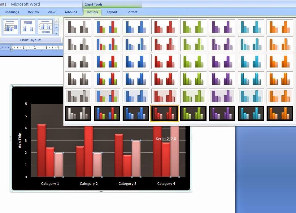 Cara Design Tampilan Grafik Pada Ms.Office Word