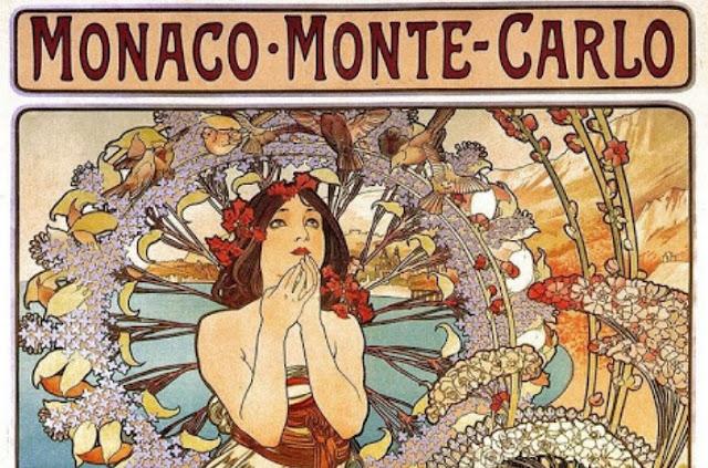 Alphonse Mucha, il poster per Montecarlo