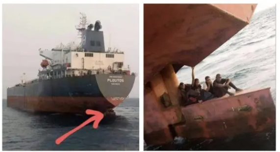 Lagos stowaways caught hiding under ship heading to Spain (Watch video)