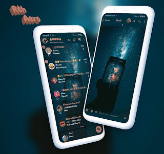 Star Sky 3 Dark Theme For YOWhatsApp & Aero WhatsApp By Reh