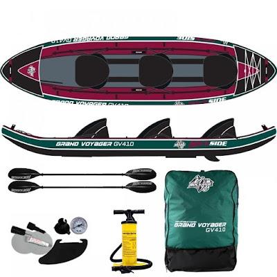 El Kayak hinchable y todos sus complementos