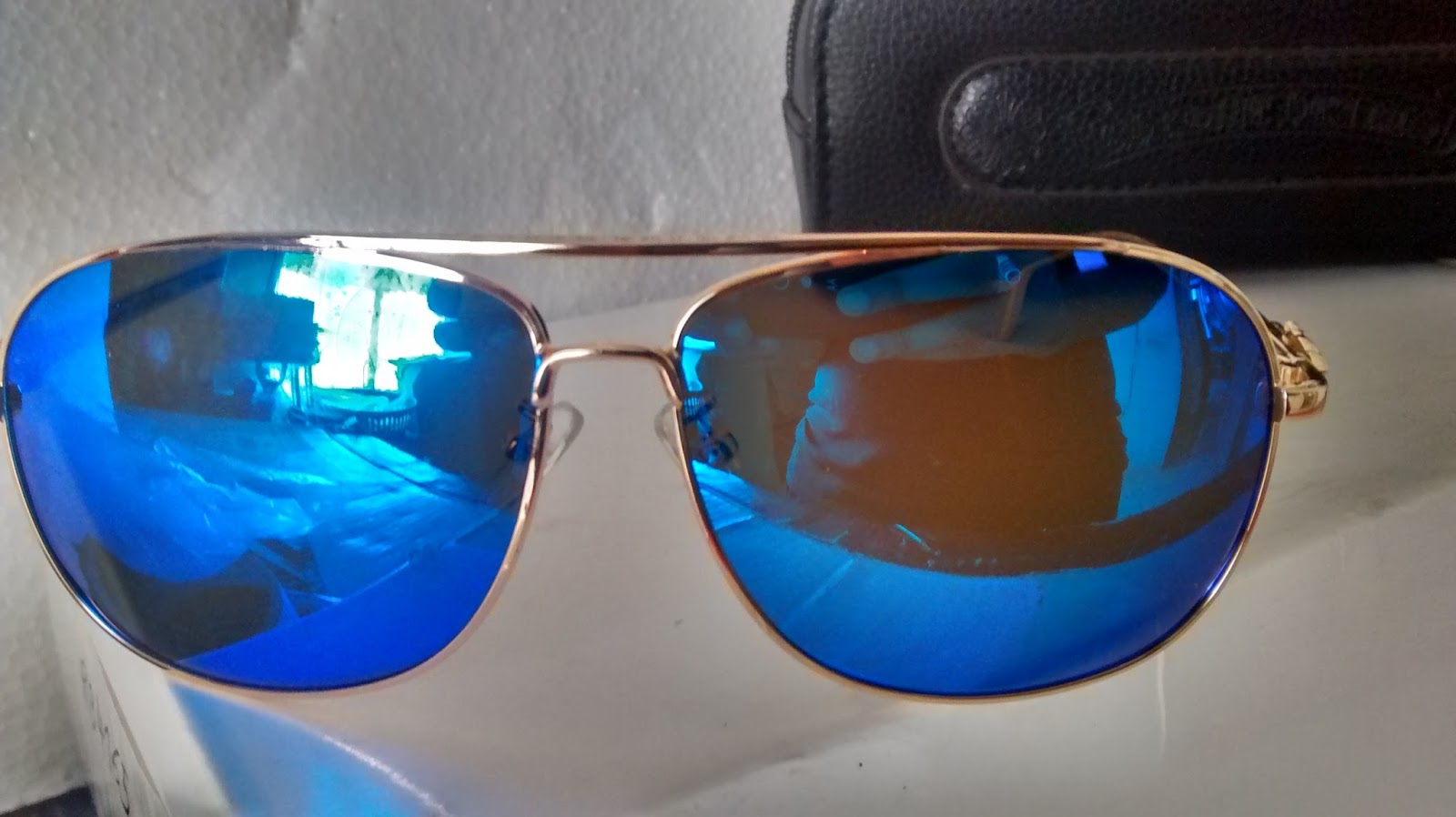 f21d069dd16 Rs1999 Chrome Hearts Sunglasses Mirror Blue Gold Frame Size 62