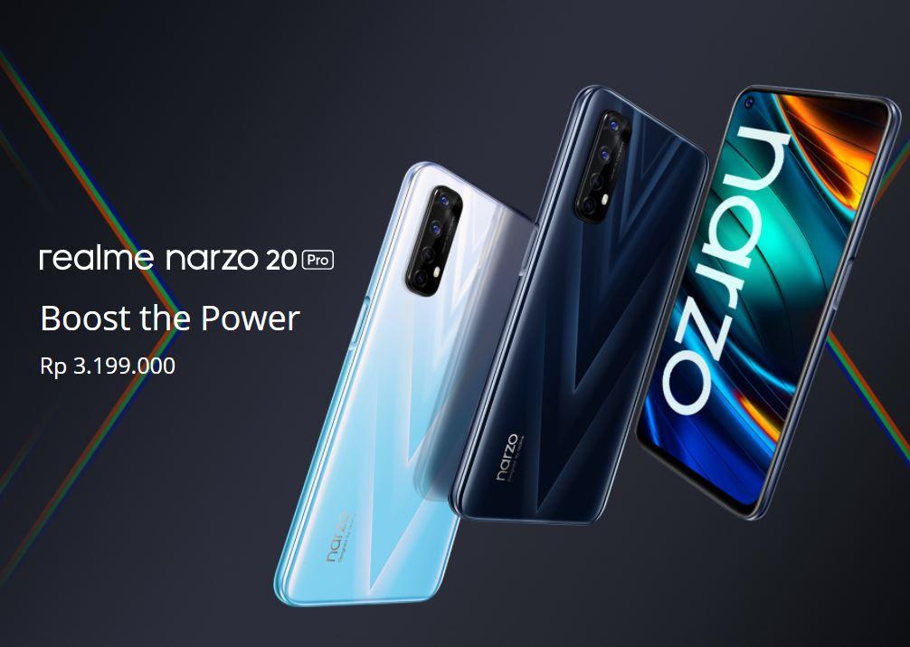Harga dan Spesifikasi Realme Narzo 20 Pro RAM 8GB ROM 128GB, Charge Penuh Dalam 38 Menit!