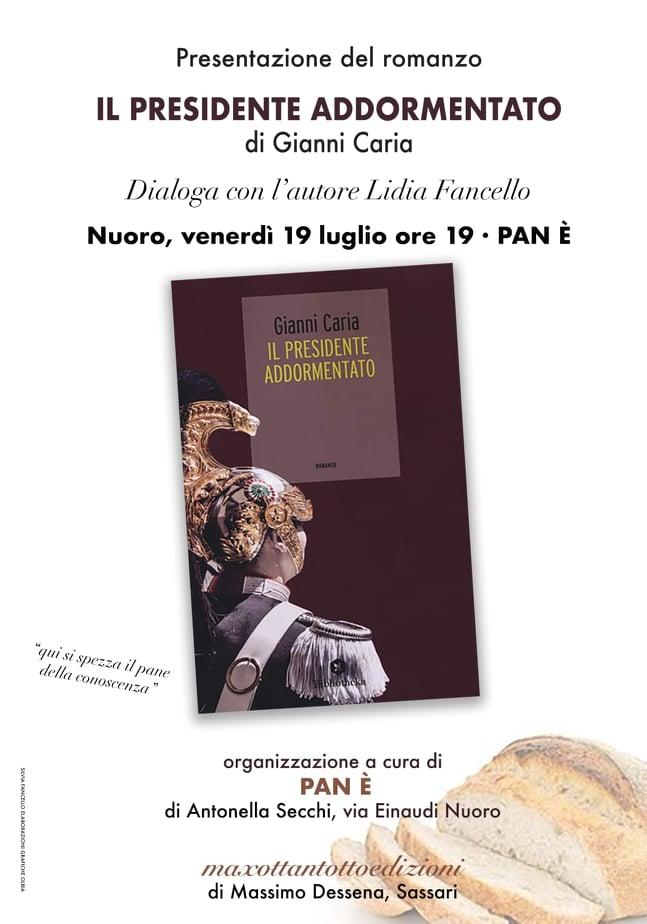 """Gianni Caria presenta """"Il Presidente addormentato"""" al Pan è di Nuoro"""