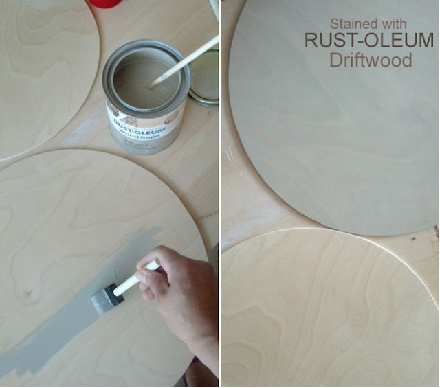 how to stained placemats with driftwood