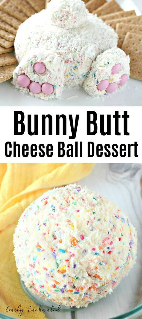 Best and Easy Bunny Butt Cheese Ball Easter Dessert