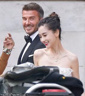 David Beckham prepares to 'marry' stunning model Angelababy