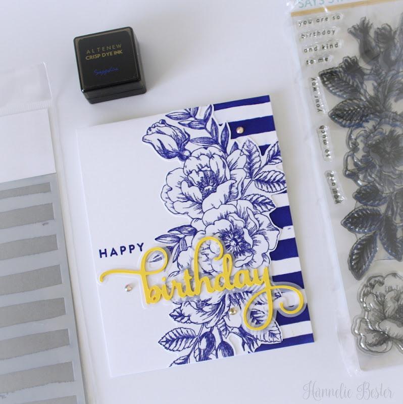 Simon says stamp beautiful flowers