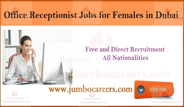Gulf job vacancies with salary, Recent Receptionist jobs in Dubai,