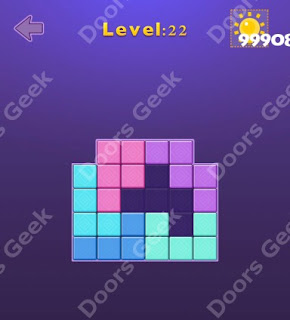Cheats, Solutions, Walkthrough for Move Blocks Easy Level 22