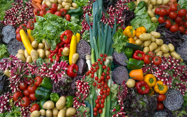 eat all vegatables and fruits