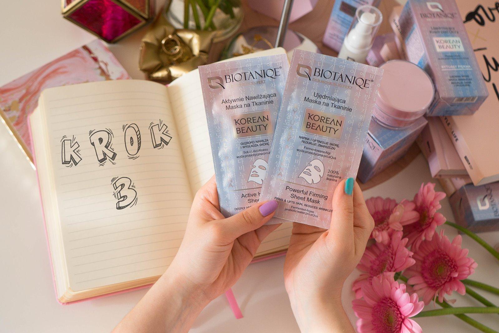 7 biotaniqe koreańska pielęgnacja krok po kroku w jakiej kolejności nakładać kosmetyki jak dbać o cerę koreańskie kosmetyki kremy serum maski korean beauty instagram melodylaniella łódzka blogerka lifestyle