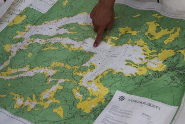 lohjajärven kartta järvikartta maastokartta lohja