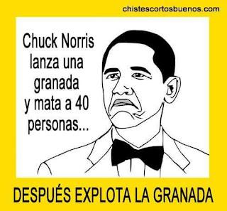 Chuck Norris lanza una granada y mata a 40 personas, después explota la granada