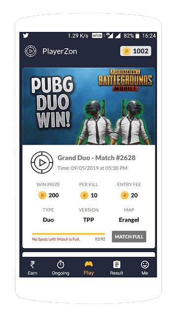 TOP 4 APPS PLAY PUBG TOURNAMENT TO EARN MONEY ONLINE