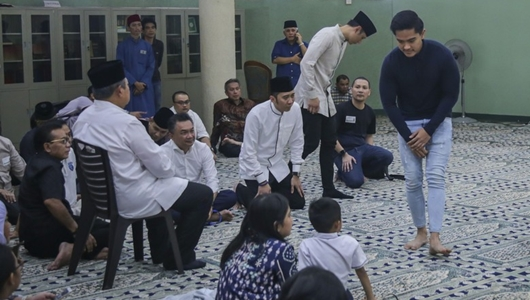 Kaesang Ikut Melayat Ani Yudhoyono di KBRI Singapura