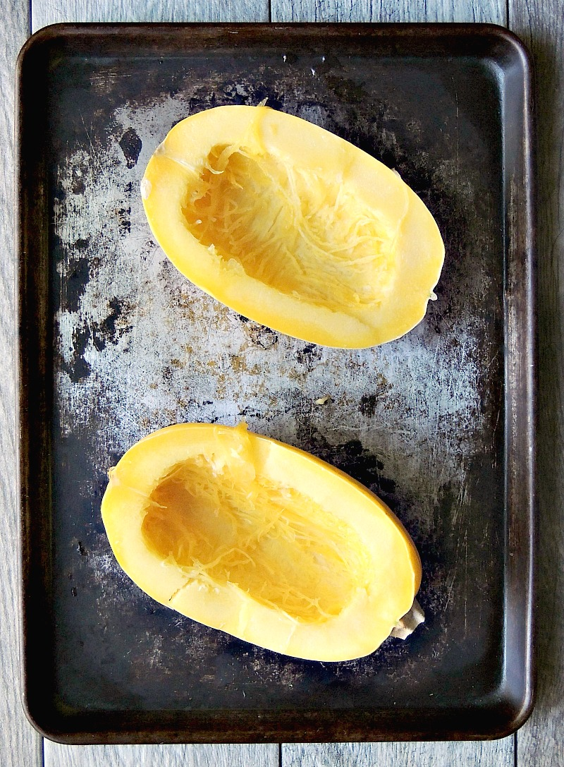 Herbed Spaghetti Squash with Garlic and Parmesan is Keto friendly, Low-carb, Gluten-free, vegetarian, and a perfect side dish for any protein. #keto #lowcarb #LCHF #glutenfree #vegetarian #squash #recipe | bobbiskozykitchen.com