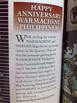 Welcome to WARMACHINE Philippines