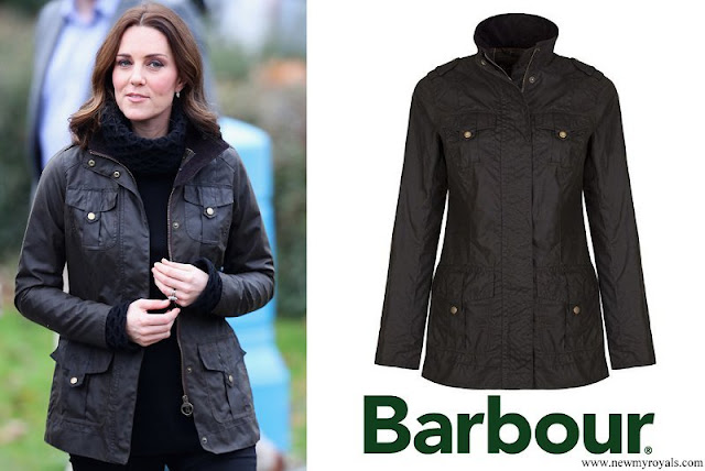 Kate Middleton wore Barbour Waxed Defence Jacket