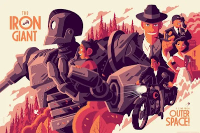 New York Comic Con 2020 Exclusive The Iron Giant Screen Print by Tom Whalen x Grey Matter Art